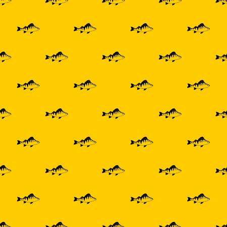 Fish pattern seamless vector repeat geometric yellow for any design