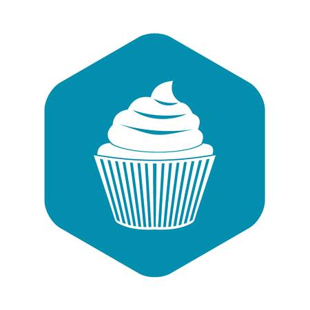 Cupcake icon. Simple illustration of cupcake vector icon for web Illustration