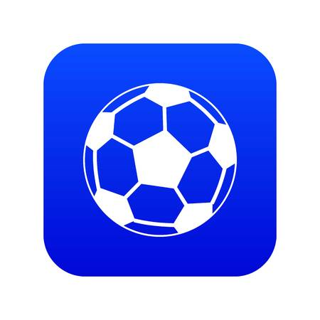 Soccer ball icon digital blue Ilustracja