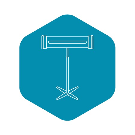 Symbol für Halogen- oder Infrarotheizung. Umreißen Sie Illustration der Halogen- oder Infrarotheizungsvektorikone für Netz