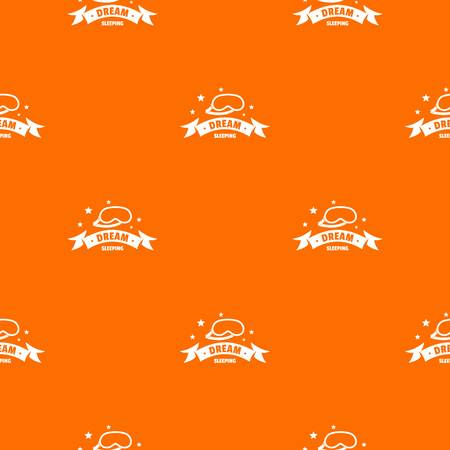Sleeping pattern vector orange for any web design best