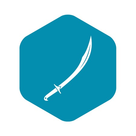 Cutlass icon. Simple illustration of cutlass vector icon for web