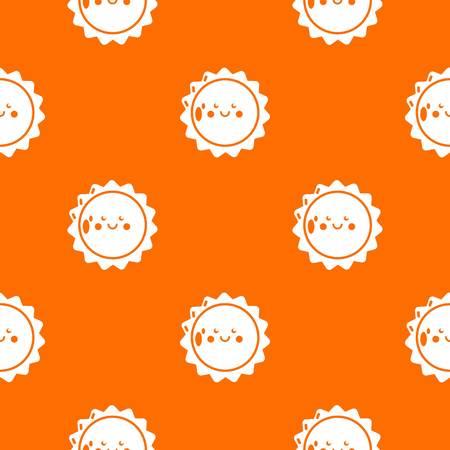 Sun pattern vector orange