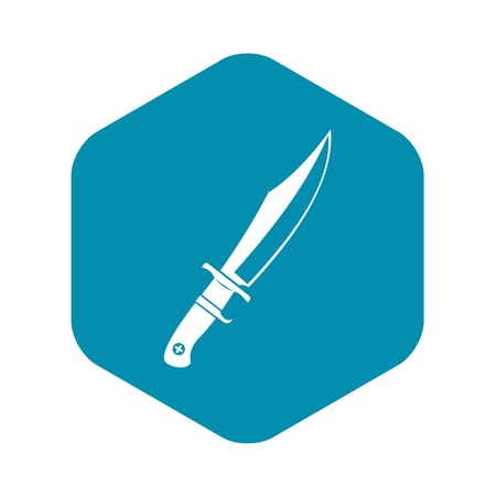 Dagger icon, simple style