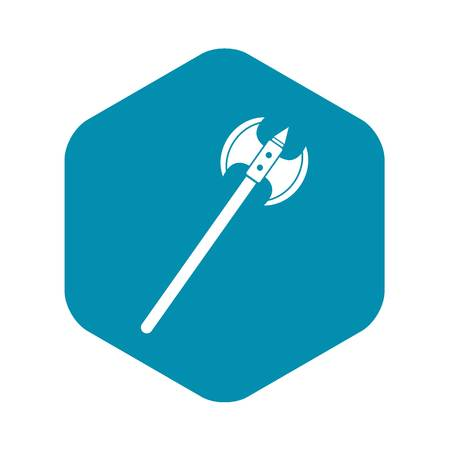 Poleaxe icon, simple style