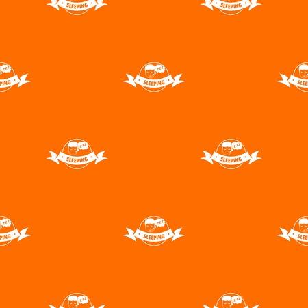 Sleeping bedroom pattern vector orange