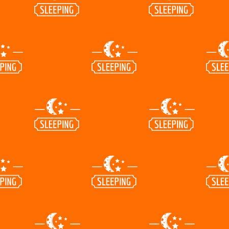 Sleeping moon pattern vector orange