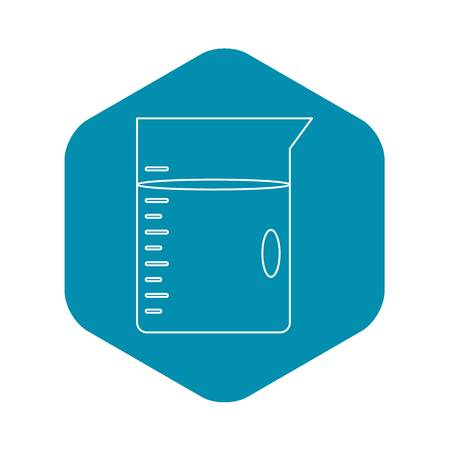 Glass jar icon, outline style