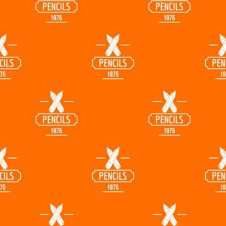 Pencil pattern vector orange