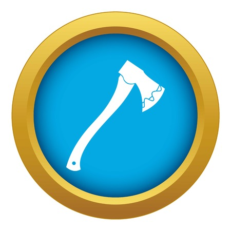 Axe In blood icon blue vector isolated Illustration