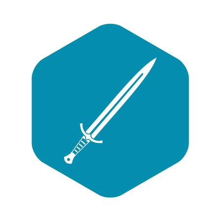 Long sword icon, simple style Illustration
