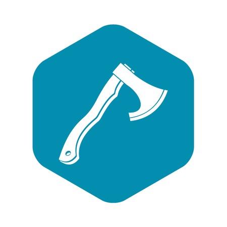Hatchet icon, simple style Illustration