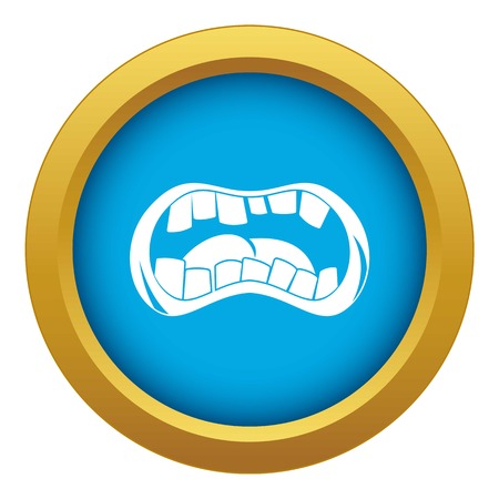 Zombie mouth icon blue vector isolated on white background for any design Banco de Imagens - 123052488