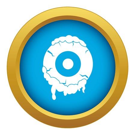 Scary eyeball icon blue vector isolated Vectores