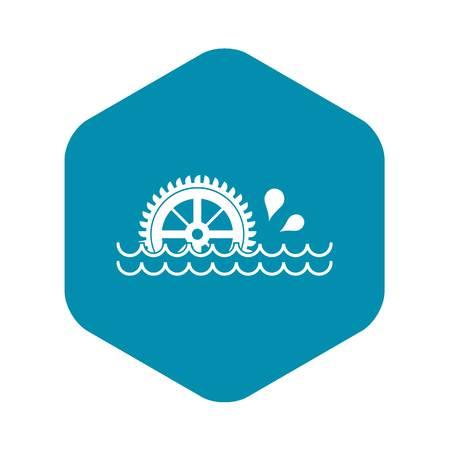 Waterwheel icon. Simple illustration of waterwheel vector icon for web Illustration
