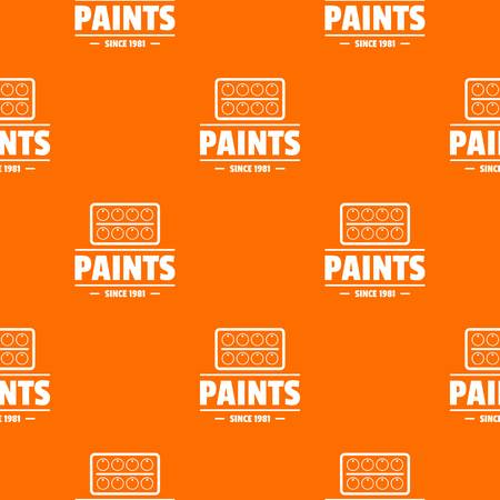 Paint tool pattern vector orange