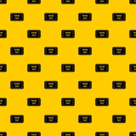 Parking ticket pattern seamless vector repeat geometric yellow for any design