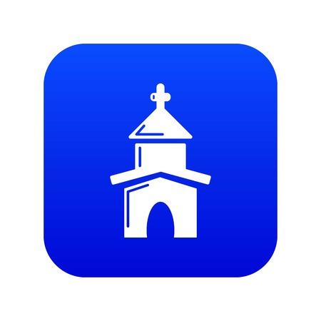 Church icon blue vector