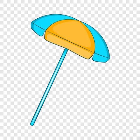 Sun umbrella icon, flat style