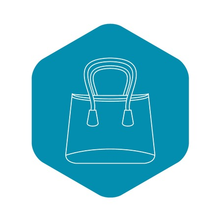 Shop bag icon, outline style