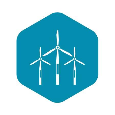 Wind generator turbines icon. Simple illustration of wind generator turbines vector icon for web Illustration