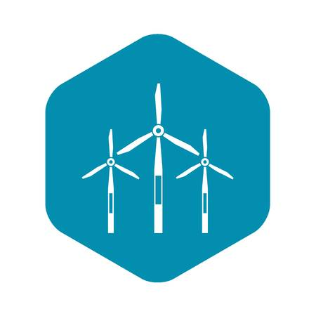 Wind generator turbines icon. Simple illustration of wind generator turbines vector icon for web Reklamní fotografie - 123052550
