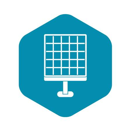 Solar panel icon. Simple illustration of solar panel vector icon for web Archivio Fotografico - 123052553