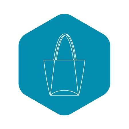 Big bag icon, outline style