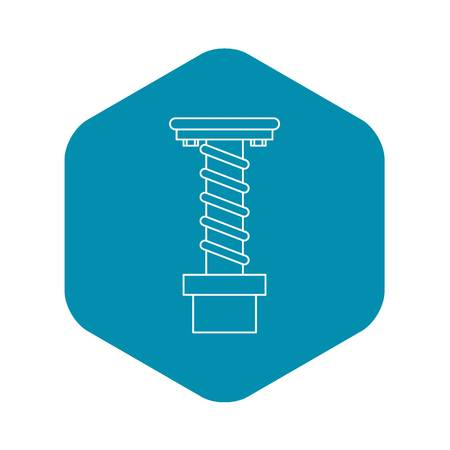 Spiral tool icon, outline style