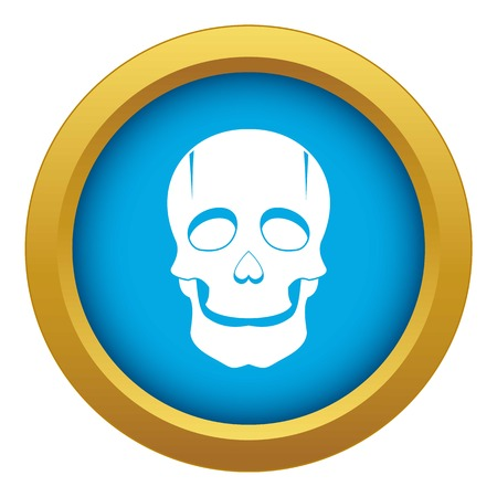 Singer mask icon blue vector isolated