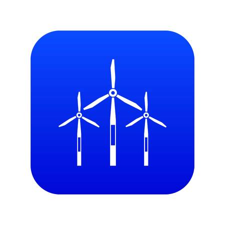 Wind generator turbines icon digital blue for any design isolated on white vector illustration