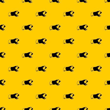 Hamster pattern seamless vector repeat geometric yellow for any design