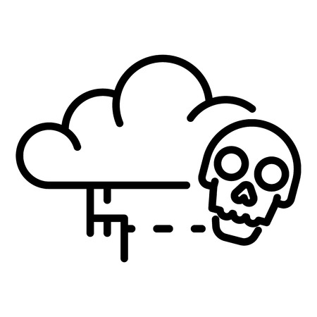 Cloud virus detection icon, outline style