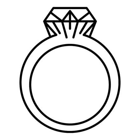 Rhinestone ring icon, outline style