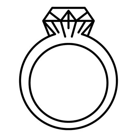 Rhinestone ring icon, outline style