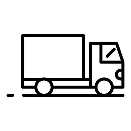 Export cargo truck icon, outline style