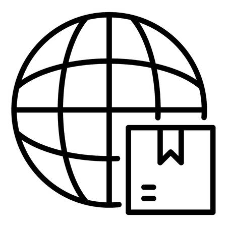 World export icon. Outline world export vector icon for web design isolated on white background Stock Illustratie