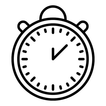 Time of delivery icon. Outline time of delivery vector icon for web design isolated on white background