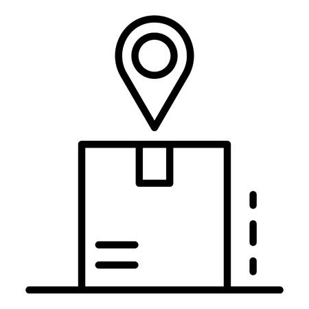 Package tracking icon. Outline package tracking vector icon for web design isolated on white background Illustration