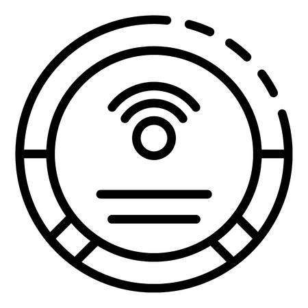 Wireless technology icon, outline style Illustration