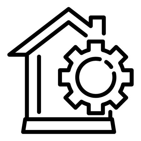 Smart home mechanism icon, outline style Ilustrace