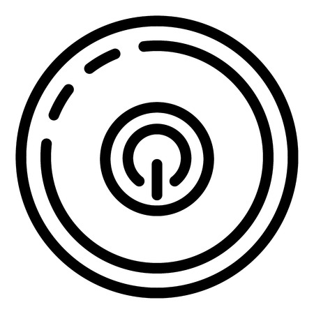 Smart speaker top view icon. Outline smart speaker top view vector icon for web design isolated on white background  イラスト・ベクター素材
