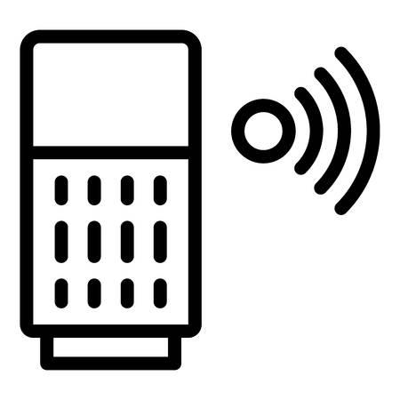 Wifi smart speaker icon, outline style