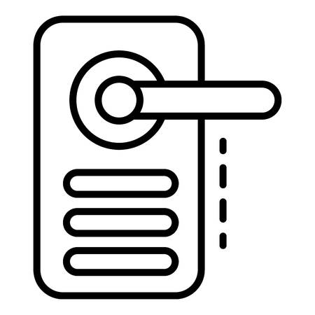 Digital door lock icon, outline style