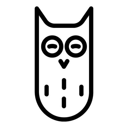 Eared owl icon. Outline eared owl vector icon for web design isolated on white background