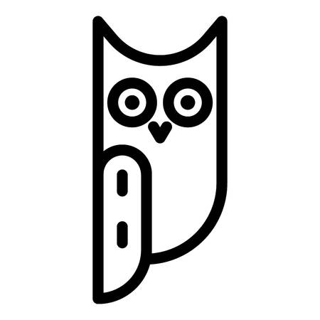 Long eared owl side view icon. Outline long eared owl side view vector icon for web design isolated on white background Zdjęcie Seryjne - 122637411