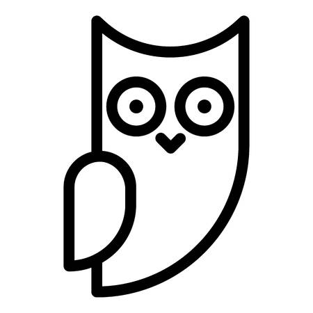 Little owl side view icon. Outline little owl side view vector icon for web design isolated on white background Stock Illustratie