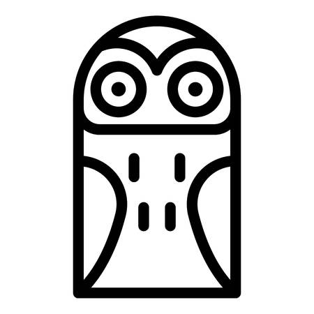 Snowy owl icon. Outline snowy owl vector icon for web design isolated on white background
