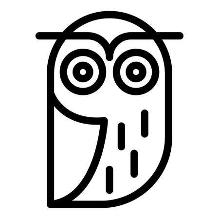 Old owl icon. Outline old owl vector icon for web design isolated on white background