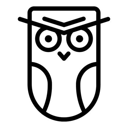 Angry owl icon. Outline angry owl vector icon for web design isolated on white background Illustration